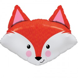 "FABULOUS FOX 14"" MINI SHAPE INFLATED WITH CUP & STICK"