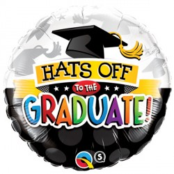 """HATS OFF TO THE GRADUATE! 18"""" PKT"""
