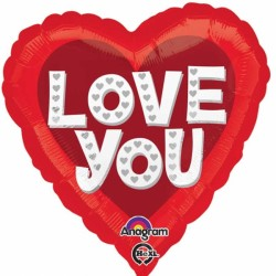 LOVE YOU SILVER HEARTS STANDARD S40 PKT
