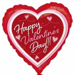 HAPPY VALENTINE'S DAY PINK & RED STANDARD S40 PKT
