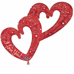 INTERLOCKING HEARTS MULTI BALLOON SHAPE P70 PKT