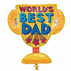 BEST DAD TROPHY SHAPE P30 PKT
