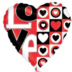 "RED & BLACK LOVE 18"" SALE"