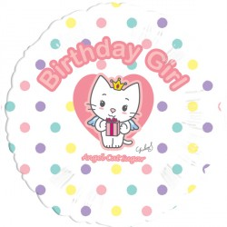 "ANGEL CAT SUGAR HAPPY BIRTHDAY 18"" SALE"