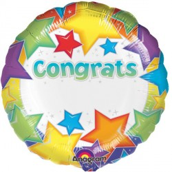 """CONGRATS STAR PERSONALISE 18"""" SALE"""
