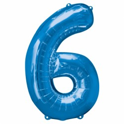 BLUE NUMBER 6 SHAPE SALE