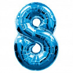 BLUE NUMBER 8 SHAPE SALE