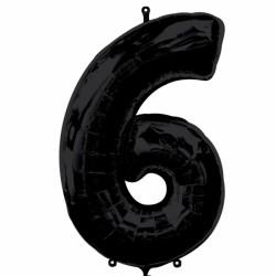 BLACK NUMBER 6 SHAPE SALE