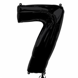 BLACK NUMBER 7 SHAPE SALE