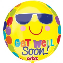 BRIGHT SUNNY GET WELL SOON ORBZ G20 PKT