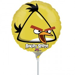 "ANGRY BIRDS YELLOW BIRD 9"" A20 INFLATED WITH CUP & STICK"