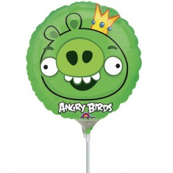 "ANGRY BIRDS KING PIG 9"" A20 INFLATED WITH CUP & STICK"
