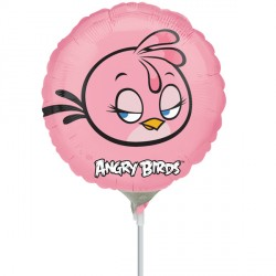 "ANGRY BIRDS STELLA 9"" A20 INFLATED WITH CUP & STICK"