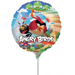 "ANGRY BIRDS 9"" A20 INFLATED WITH CUP & STICK"