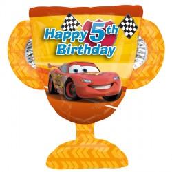 DISNEY CARS 5TH BIRTHDAY TROPHY SHAPE P38 PKT