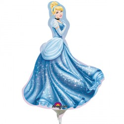 DISNEY PRINCESS CINDERELLA MINI SHAPE A30 INFLATED WITH CUP & STICK
