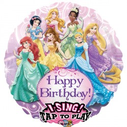 DISNEY PRINCESS BIRTHDAY JUMBO SING A TUNE P75 PKT