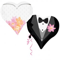 WEDDING COUPLE HEARTS SHAPE P35 PKT