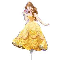 DISNEY PRINCESS BELLE MINI SHAPE A30 INFLATED WITH CUP & STICK