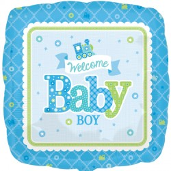 WELCOME BABY BOY TRAIN STANDARD S40 PKT