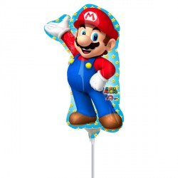 SUPER MARIO MINI SHAPE A30 INFLATED WITH CUP & STICK