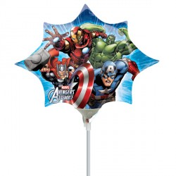 AVENGERS ASSEMBLE MINI SHAPE A30 INFLATED WITH CUP & STICK