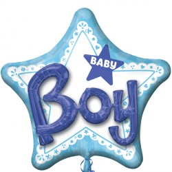 BABY BOY 3D MULTI-BALLOON P75 PKT