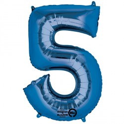 BLUE NUMBER 5 SHAPE P50 PKT