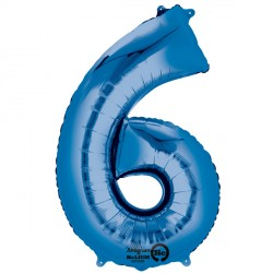BLUE NUMBER 6 SHAPE P50 PKT