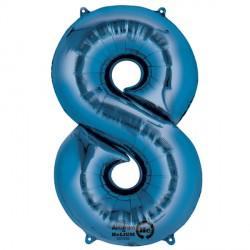 BLUE NUMBER 8 SHAPE P50 PKT