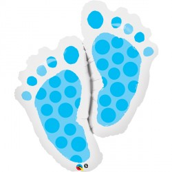 "BABY FEET BLUE 35"" SHAPE GROUP C PKT"