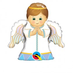 "ANGEL BOY 14"" MINI SHAPE INFLATED WITH CUP & STICK"