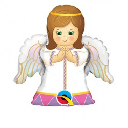 """ANGEL GIRL 14"""" MINI SHAPE INFLATED WITH CUP & STICK"""