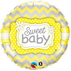 "SWEET BABY YELLOW PATTERNS 18"" PKT"