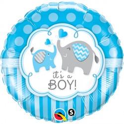 """IT'S A BOY ELEPHANTS 18"""" PKT"""