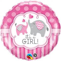 "IT'S A GIRL ELEPHANTS 18"" PKT"