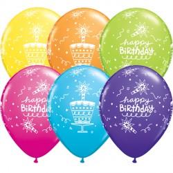 "CAKE & CANDLE BIRTHDAY 11"" RETAIL ASSORTMENT (6X6CT)"