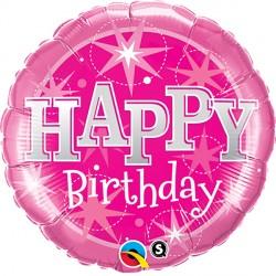 """BIRTHDAY SPARKLE PINK 36"""" JUMBO PKT"""