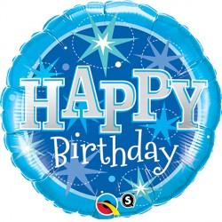 """BIRTHDAY SPARKLE BLUE 36"""" JUMBO PKT"""