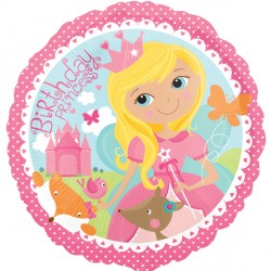 WOODLAND PRINCESS HAPPY BIRTHDAY STANDARD S40 PKT