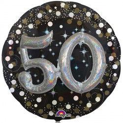 SPARKLING CELEBRATION 50 MULTI BALLOON SHAPE P75 PKT