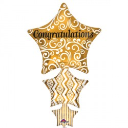 CONGRATULATIONS STACKED STAR SHAPE P35 PKT