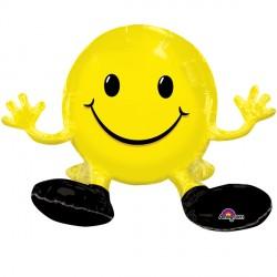 SITTING SMILE YELLOW MULTI BALLOON A75 PKT