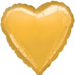 GOLD METALLIC HEART STANDARD S15 FLAT A