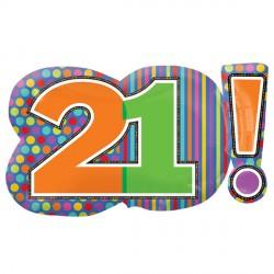 HAPPY BIRTHDAY DOTS & STRIPES 21! SHAPES P30 PKT