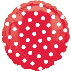 POLKA DOT RED STANDARD S40 FLAT