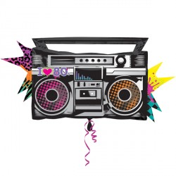 TOTALLY 80'S BOOMBOX SHAPE P35 PKT