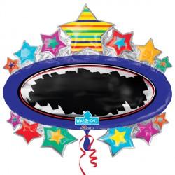 BRIGHT STAR BLACKBOARD MARQUEE WRITE ON SHAPE P38 PKT