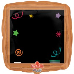 WOOD FRAME BLACKBOARD WRITE ON SHAPE P38 PKT