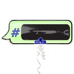 HASHTAG TEXT BUBBLE WRITE ON SHAPE P50 PKT